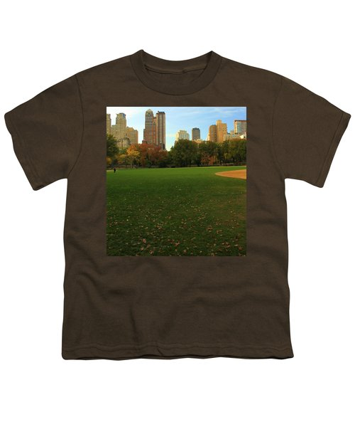 Central Park In Autumn Youth T-Shirt by Dan Sproul