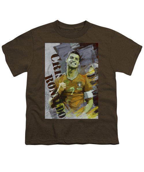 Cristiano Ronaldo Youth T-Shirt by Corporate Art Task Force