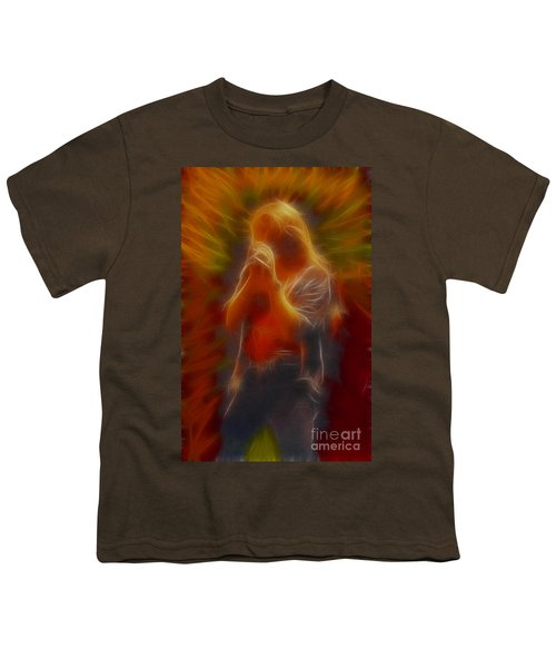 Def Leppard-adrenalize-joe-gb20-fractal Youth T-Shirt by Gary Gingrich Galleries