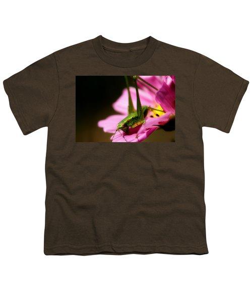 Flower Hopper Youth T-Shirt by Michael Eingle