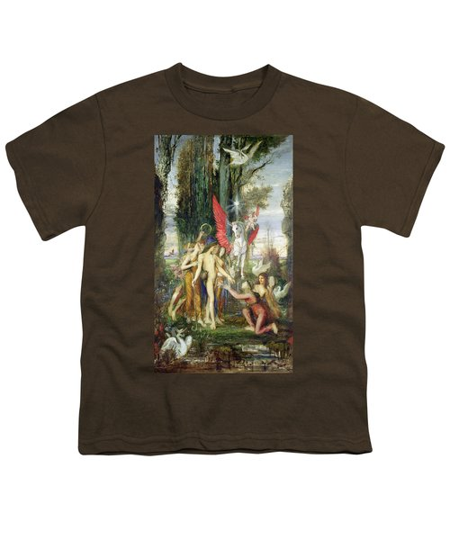 Hesiod And The Muses Youth T-Shirt by Gustave Moreau