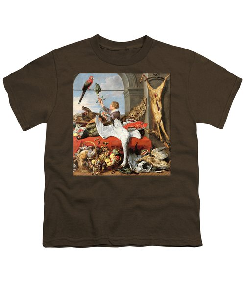 Interior Of An Office, Or Still Life With Game, Poultry And Fruit, C.1635 Oil On Canvas Youth T-Shirt by Frans Snyders or Snijders