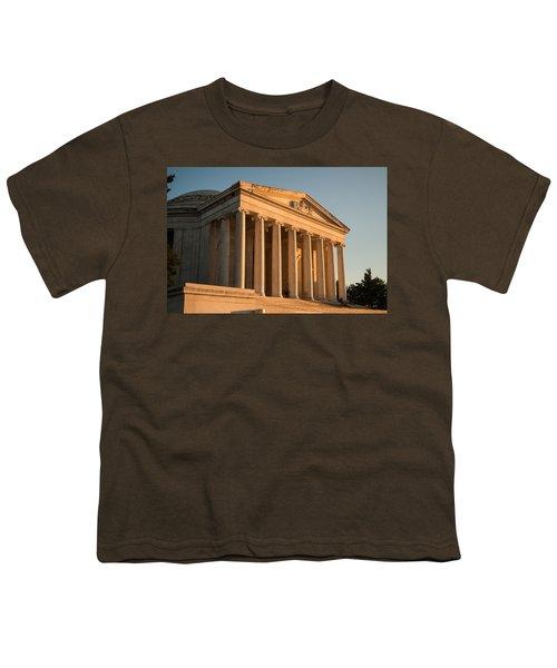 Jefferson Memorial Sunset Youth T-Shirt by Steve Gadomski