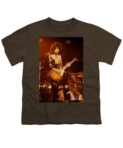 Jimmy Page 1975 Youth T-Shirt by David Plastik