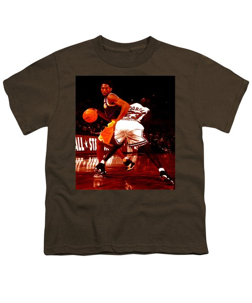 Kobe Spin Move Youth T-Shirt by Brian Reaves