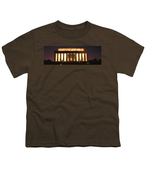 Lincoln Memorial Washington Dc Usa Youth T-Shirt by Panoramic Images
