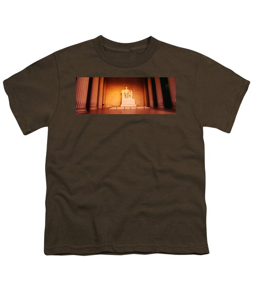 Low Angle View Of A Statue Of Abraham Youth T-Shirt by Panoramic Images