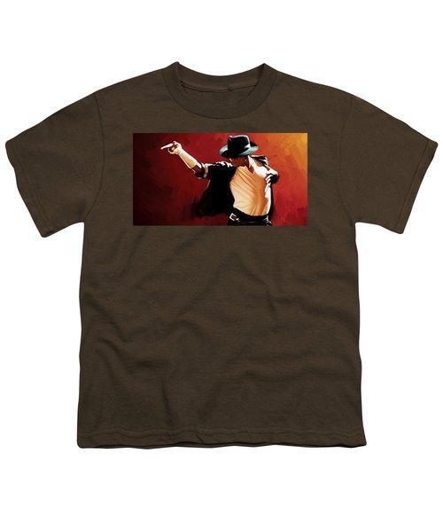 Michael Jackson Artwork 4 Youth T-Shirt by Sheraz A