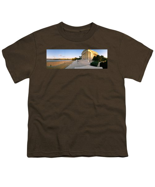 Monument At The Riverside, Jefferson Youth T-Shirt by Panoramic Images