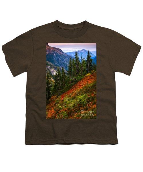 Sahale Arm Youth T-Shirt by Inge Johnsson