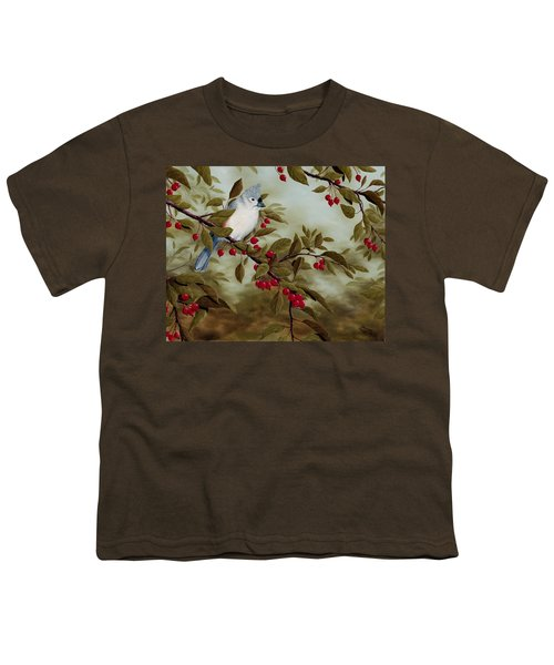 Tufted Titmouse Youth T-Shirt by Rick Bainbridge