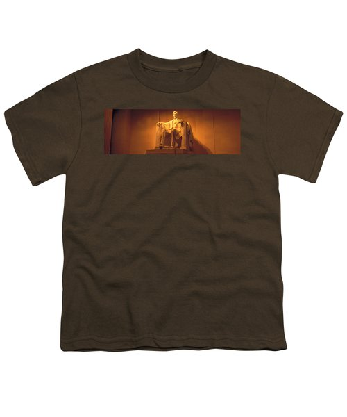 Usa, Washington Dc, Lincoln Memorial Youth T-Shirt by Panoramic Images