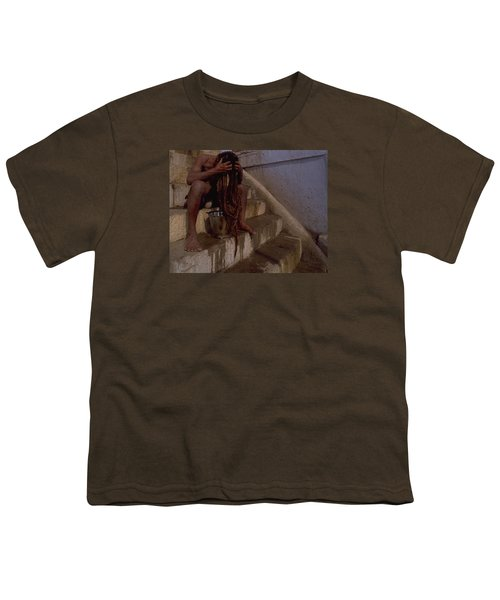 Youth T-Shirt featuring the photograph Varanasi Hair Wash by Travel Pics