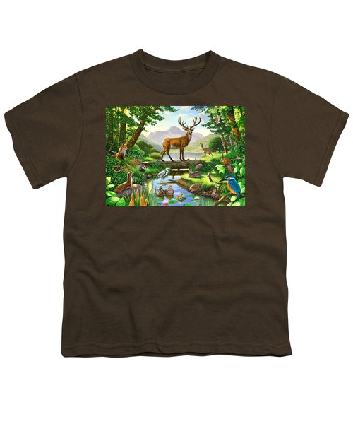Woodland Harmony Youth T-Shirt by Chris Heitt