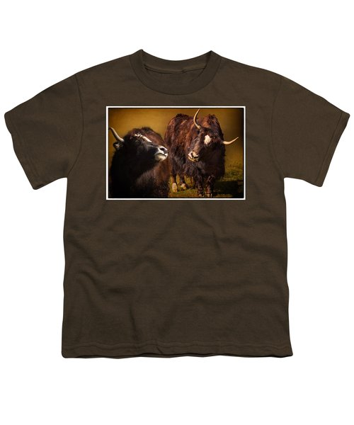 Yak Love Youth T-Shirt by Priscilla Burgers