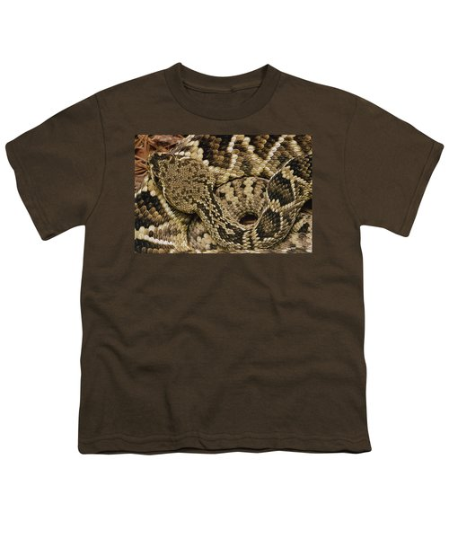 Eastern Diamondback Rattlesnake Youth T-Shirt by Gerry Ellis