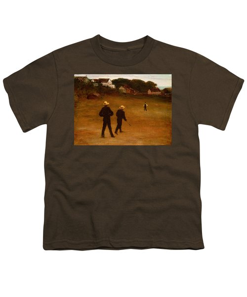 The Ball Players Youth T-Shirt by William Morris Hunt