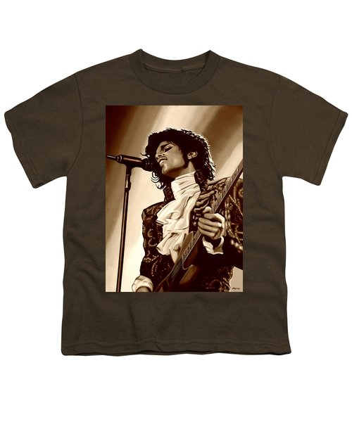 Prince The Artist Youth T-Shirt by Paul Meijering