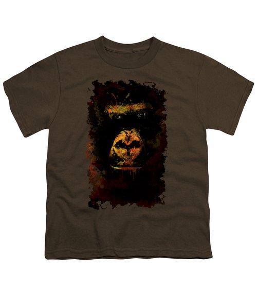 Mighty Gorilla Youth T-Shirt by Jaroslaw Blaminsky