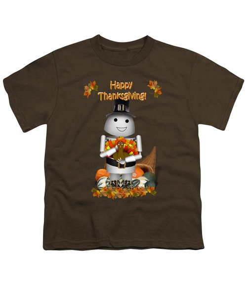 Robo-x9 The Pilgrim Youth T-Shirt by Gravityx9  Designs