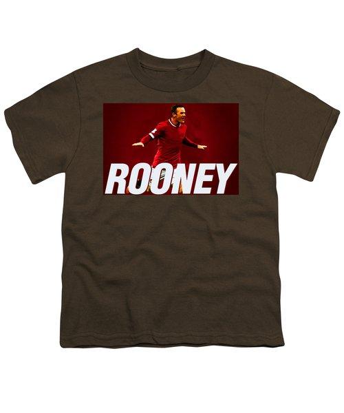 Wayne Rooney Youth T-Shirt by Semih Yurdabak