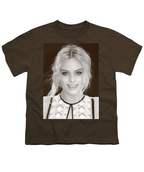 Actress Margot Robbie Youth T-Shirt by Best Actors