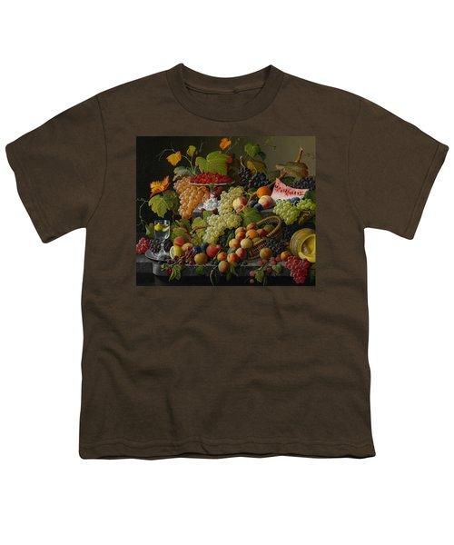 Abundant Fruit Youth T-Shirt by Severin Roesen