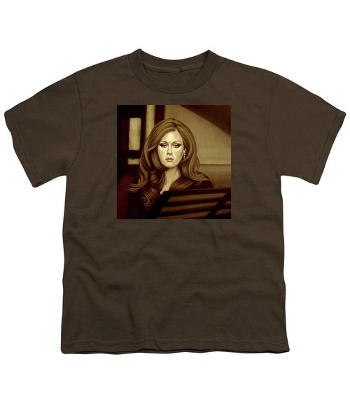 Adele Gold Youth T-Shirt by Paul Meijering