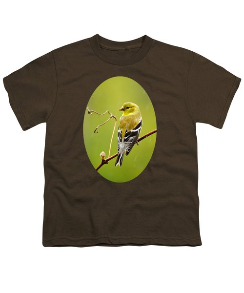 American Goldfinch In The Rain Youth T-Shirt by Christina Rollo