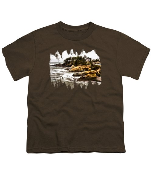 Arch Rock Depoe Bay Youth T-Shirt by Thom Zehrfeld