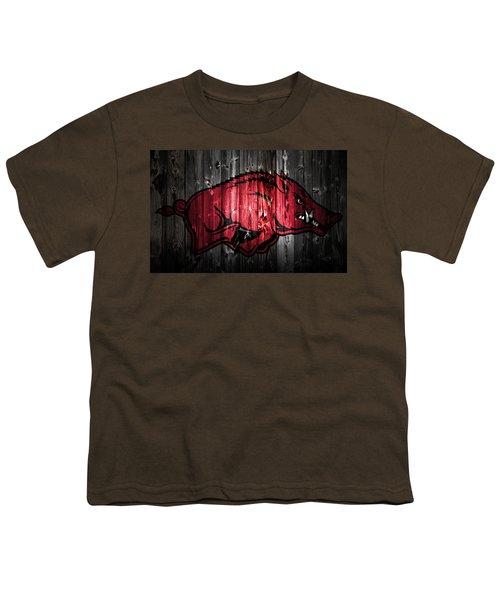 Arkansas Razorbacks 2a Youth T-Shirt by Brian Reaves