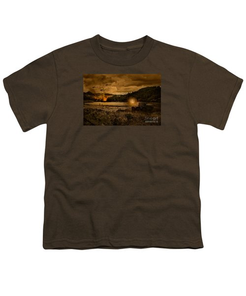 Attack At Nightfall Youth T-Shirt by Amanda Elwell