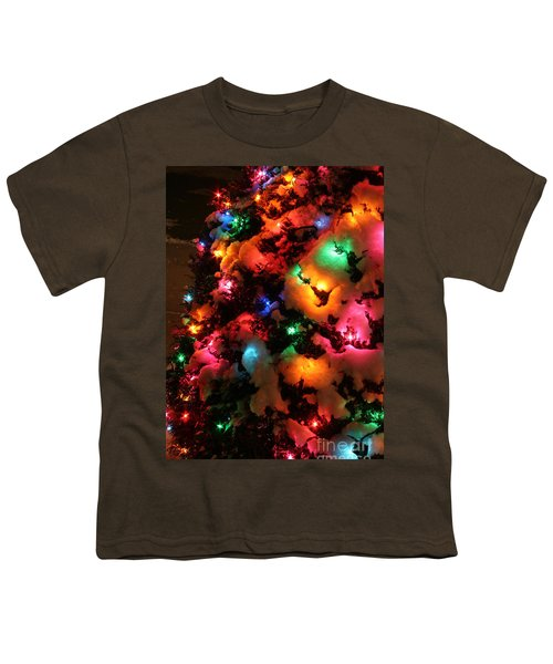 Christmas Lights Coldplay Youth T-Shirt by Wayne Moran