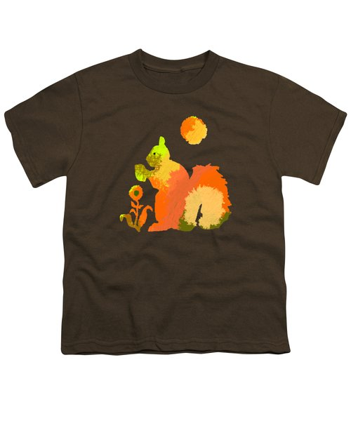 Colorful Squirrel 2 Youth T-Shirt by Holly McGee