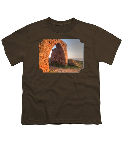 Evening Light On Grosnez Castle Ruins Jersey Youth T-Shirt by Gill Billington
