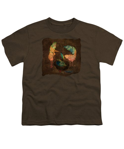 Feathering Their Nest Youth T-Shirt by Terry Fleckney