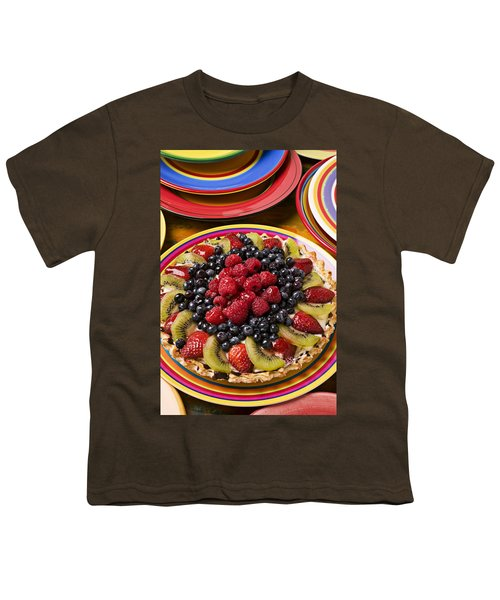Fruit Tart Pie Youth T-Shirt by Garry Gay