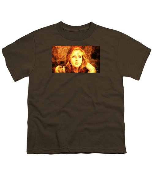 Golden Adele Youth T-Shirt by Pablo Franchi
