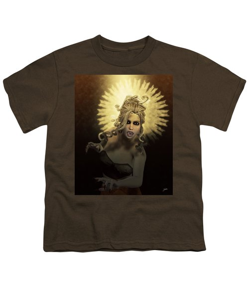 Gorgon Medusa Youth T-Shirt by Joaquin Abella
