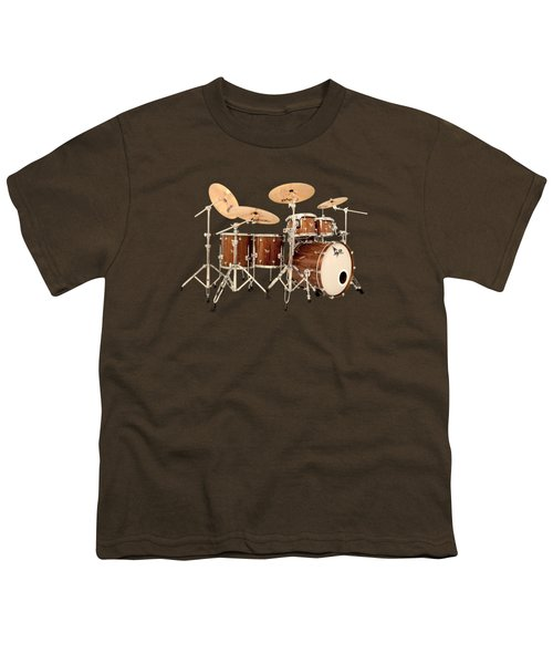 Hendrix  Drums Youth T-Shirt by Shavit Mason