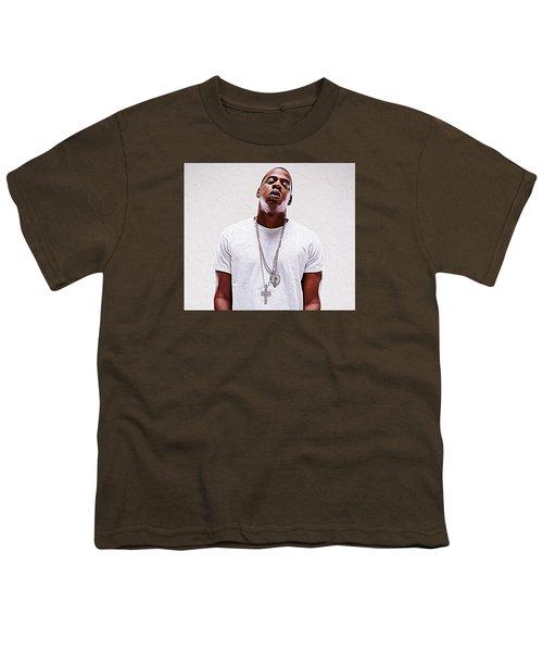 Jay-z Youth T-Shirt by Iguanna Espinosa