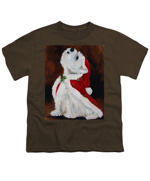 Joy To The World Youth T-Shirt by Mary Sparrow