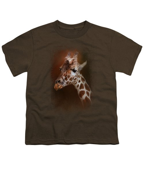 Long Neck Youth T-Shirt by Jai Johnson