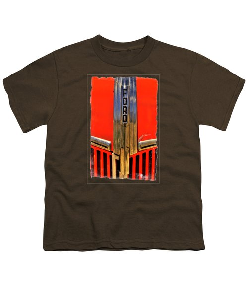 Manzanar Fire Truck Hood And Grill Detail Youth T-Shirt by Roger Passman
