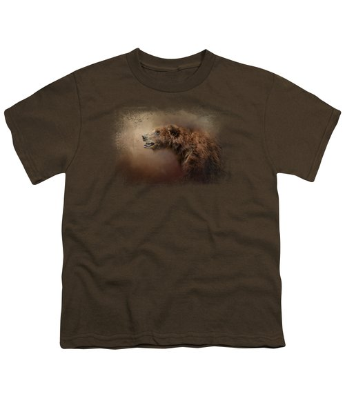 Morning Grizzly Youth T-Shirt by Jai Johnson