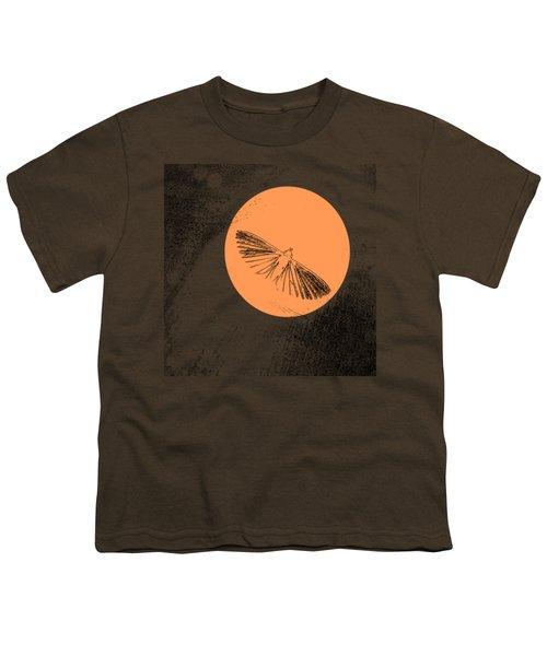 Moth In Orange Youth T-Shirt by Sverre Andreas Fekjan