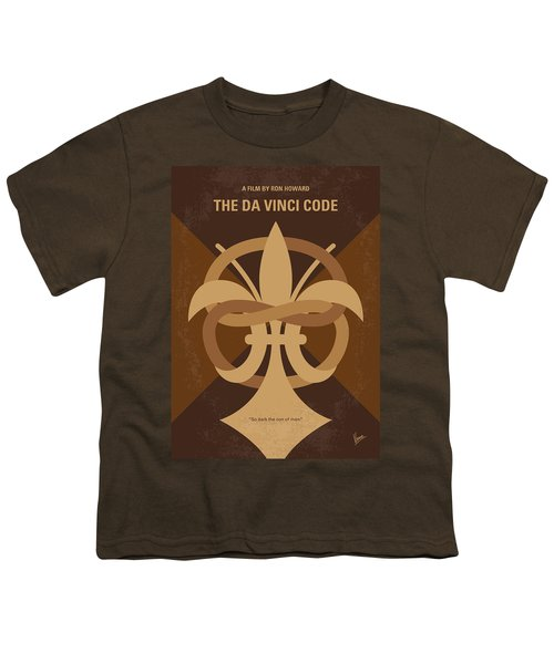 No548 My Da Vinci Code Minimal Movie Poster Youth T-Shirt by Chungkong Art