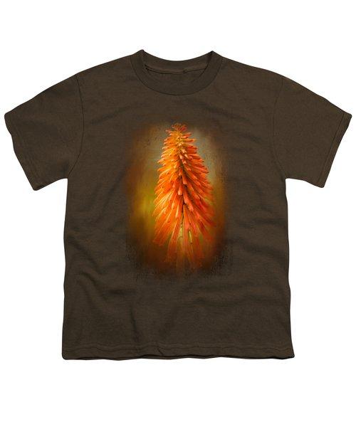 Orange Blast In The Garden Youth T-Shirt by Jai Johnson