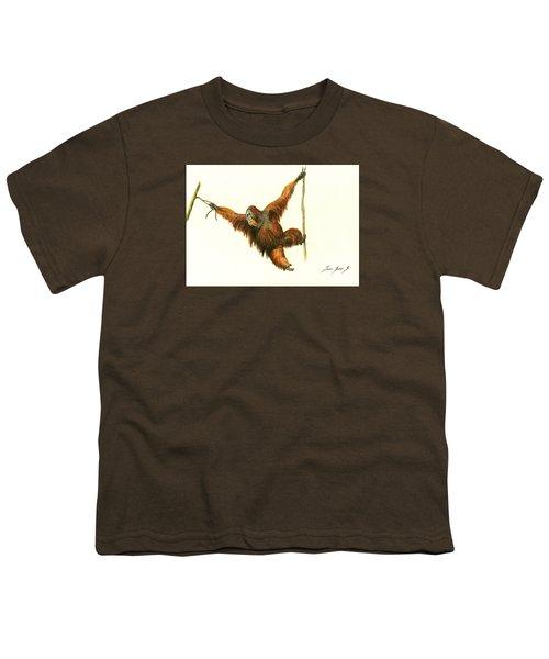 Orangutan Youth T-Shirt by Juan Bosco