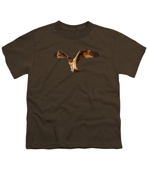 Osprey On The Branch Youth T-Shirt by Zina Stromberg